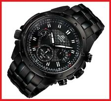 CASIO EDIFICE watch men EF-535BK chronograph black serie FREE SHIP!!