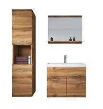Badezimmer Badmöbel Set Montreal 60 cm Waschbecken Wotan (Braun) - Unterschrank