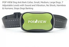 POP VIEW Barking Control Collar For Small To Large Dogs 11 To 120 Lbs