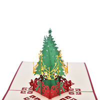 3D Pop Up Holiday Greeting Card Christmas Tree Easter Day Thank You 15*15CM WB