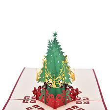 3D Pop Up Urlaub Gru�Ÿ Karte Weihnachtsbaum Ostern Tag Danke 15 * 15 Sm