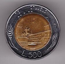 Italie 500 lires 1989 bi-metallic coin-Braille (L.500)