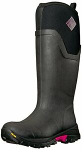 Muck Arctic Ice Extreme Tall Rubber Boots Black Hot Pink Womens 8 US NEW Box
