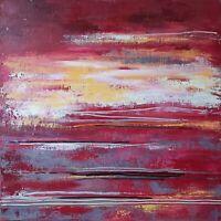 """Peinture sur toile Paysage Tableau abstrait original signé HZEN """"AUTRE RIVAGE"""""""