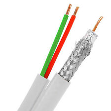 Eagle 500' FT RG6 Coaxial Cable 18 AWG Solid Bare Copper Center Siamese w/ 22/2