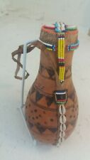 South African Beaded Gourd Water Bottle