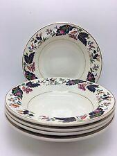 """Pretty Vintage Grindley China - Set of 5 Standard size  6.5"""" rimmed cereal bowls"""