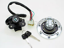 Gas Cap Cover Ignition Switch Lock Set for Kawasaki NINJA ZX-7R/ZX750 2001 2002
