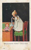 CHRISTMAS – Hello Mama Merry Christmas Glitter Covered Postcard - udb (pre 1908)