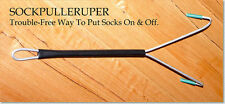 METAL SOCK PULLER UPPER - Sock Fitting Aid Extra Reach Helper Easy On Device