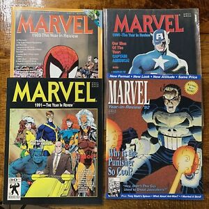 Lot Of (4) MARVEL Year In Review 1989, 1990, 1991, 1992