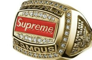 Supreme Jostens World Famous Championship Ring -Gold Color-Size 10 - New In Box