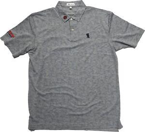 NWOT Peter Millar Scotty Cameron Short Sleeve Polo Shirt Large - Gray