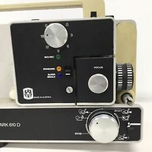 Eumig Mark 610 D Vintage Reg 8mm & Super 8 Film Projector #460