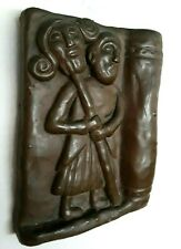 """Wild Goose Studio, David With Head of Goliath  7"""" Wall Hanging, Hand Cold Cast"""