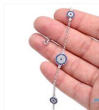 Sterling Silver 925 Turkish Evil Eye Bracelet