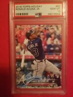 2018 Topps Holiday Ronald Acuna Jr. Braves RC Rookie PSA 10 GEM MINT