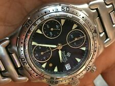 Zodiac Gold dot Chronograph Automatic valijoux 7750 ref 406.40.14 mens watch