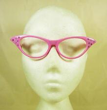 ROSA Brillante HEAD Segretario Discoteca Stile Occhiali 50's Fancy Dress