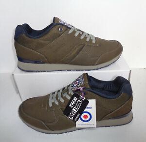 Lambretta Mens Khaki Echo Casual Memory Foam Trainers Shoes RRP £55 Sizes 7 8 9