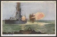 """Royal Navy. """"Britain Prepared"""" Series Postcard #05. Broadside Salvoes"""