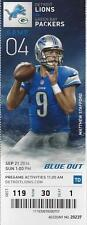 2014 NFL GREEN BAY PACKERS @ DETROIT LIONS FULL UNUSED FOOTBALL TICKET - MINT