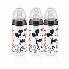 NUK Mickey Black Top First Choice+ 300ml Bottle (6-18 months) - 3 Pack