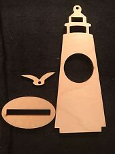 Unfinished Wooden Light House picture frame or clock NEW Craft/Paint