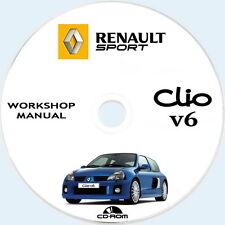Renault Sport,CLIO V6 workshop manual 2001/2005.Manuale Riparazioni