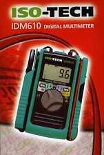 ISO-Tech IDM610 (Kewtech kewmate) 100 A Multímetro con sensor de abrazadera abierta