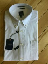 Men's Battery Street Dockers Classic Fit Dress Shirt White Size 15 15.5 34/35 M