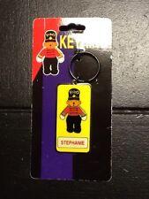 """Fao Schwarz """"Stephanie"""" Name Keyring w/ Bear Soldier New"""