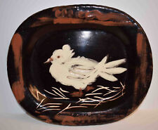 Listed Spanish Artist PABLO PICASSO Authentic Madoura Ceramic Plate 'Dove'