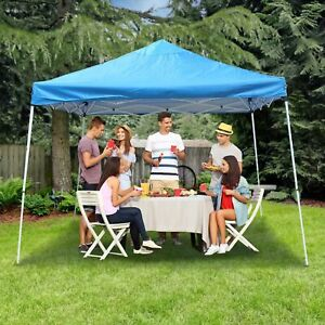 ALEKO 12 x 12 Easy Pop Up Outdoor Collapsible Gazebo Canopy Tent, Blue color