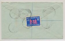 LL24158 Malaya 1963 Bedong to Singapore registered good cover used