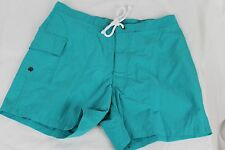 "J.Crew $75 NWT Mens 5"" Portofino Swim Trunks Turquoise Blue 29 71522"