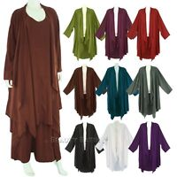 Women Long Sleeve Plus Size Cardigan Cover up Duster Jacket 1X 2X 18 20