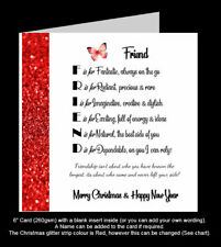 'Best Friend Poem' Christmas Card, Amazing Friend, Special Friend Card (PR80)