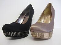 Spot On F9R565 Mujer Negro o Champagne Zapatos Diamante Ru 3 a 7 (R10A)