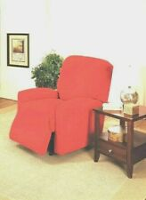 Red Washable Fitted Slipcovers For Recliners Sofas Couches & Loveseats Xx