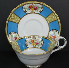S&N L Salon China Tea Cup and Saucer Made in England Blue Floral