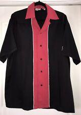 "Sz Lg. ""Vegas Baby Vegas"" Vin Cruisin Usa Bowling Shirt Poly/Rayon Black/Red"
