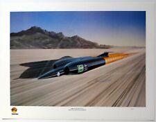 Thrust SSC Supersonic Land Speed Record Art Print by Arthur Benjamins