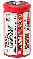 Batería IMR-18350 Li-Mn 3.7 V 800 mAh Baterías Recargable-CM85007