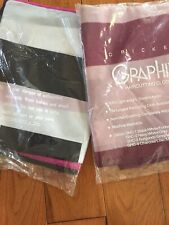 Set Of 2 Cricket Graphix Haircutting Cloth 1 Pink & Black 1) Purple & Pink Nylon