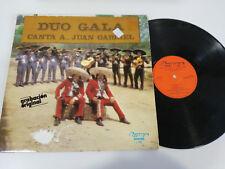 "DUO GALA CANTA A JUAN GABRIEL OLYMPO 1978 G+/VG LP VINILO VINYL 12"""
