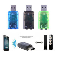 5.1USB 3D Sound Card Audio Adapter PC to mic headphone Jack Stereo Headset