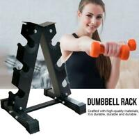 3-Tier Dumbell Weight Storage Rack Holder Stand for Home Gym Weight Barbell Bar