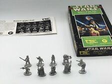 VINTAGE STAR WARS WEST END GAMES RETURN JEDI MOVIE METAL MINIATURES FULL SET