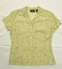 Liz Claiborne Lime Light Green Floral Blouse (Size 4) and Skirt (Size 8) Set